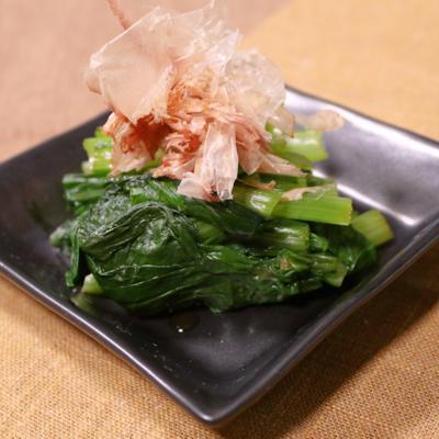 ゆず胡椒で 小松菜のお浸し
