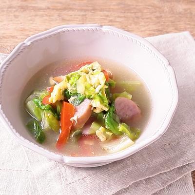 ロメインレタスのかきたまスープ