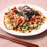 お好み焼き風!水菜のサラダ