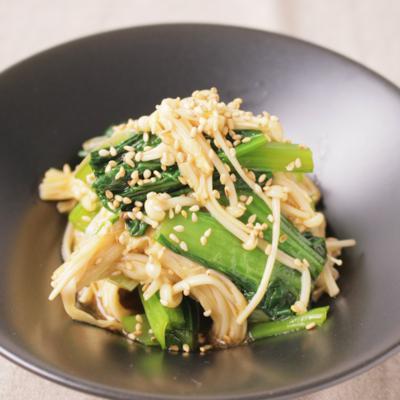 小松菜とえのきの中華風和え物