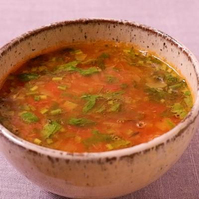 辛くて酸っぱいスープ ラッサム