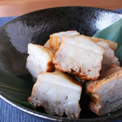 圧力鍋で豚バラブロック肉の煮豚