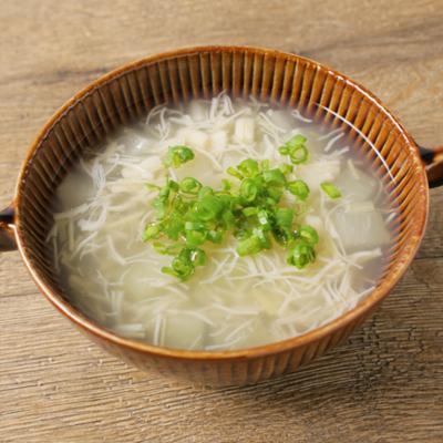 大根とホタテ缶のあっさりスープ