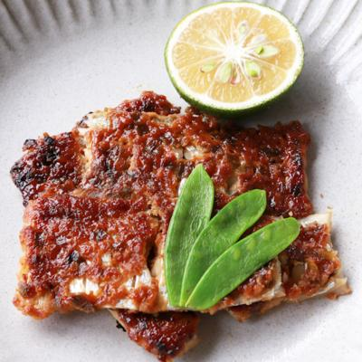 カボス香る 太刀魚のねぎ味噌焼き