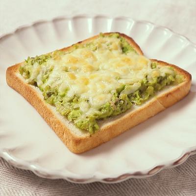 アボカド高菜ディップのトースト