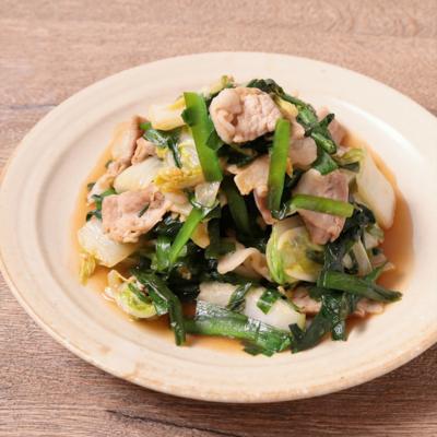豚薄切り肉とニラの簡単ピリ辛炒め