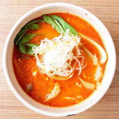 豚バラ肉で激辛坦々スープ