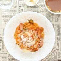ケチャップたっぷり ナポリタンスパゲティ