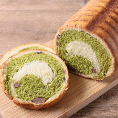 抹茶のうずまきラウンドパン