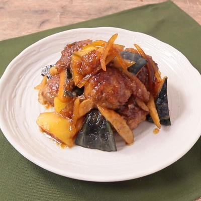 肉団子と根菜のマーマレード煮