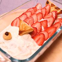 こどもの日に!こいのぼりスコップケーキ!