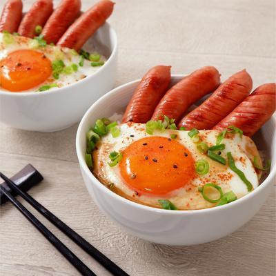 フライパンで簡単 煮ない煮卵丼
