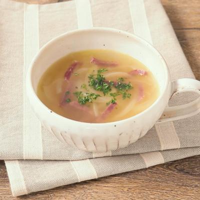 ビーフジャーキーのオニオンスープ