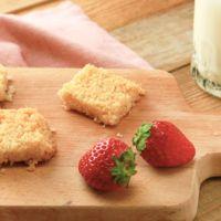 材料4つパン粉で作るクッキー