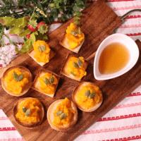 食パンで!カボチャとメープルのカナッペ