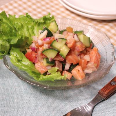 ハワイの前菜 ロミロミサーモン