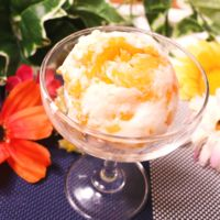 フルーツたっぷり!柑橘ヨーグルトアイス