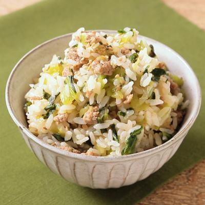 ピリ辛 チンゲン菜の菜飯