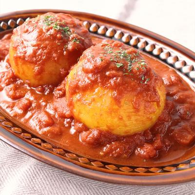 丸ごと 新玉ねぎのトマトカレー煮