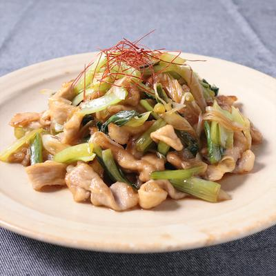 小松菜と豚肉の甘辛炒め