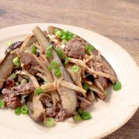 牛肉と新生姜のオイマヨ炒め