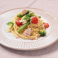 野菜とツナのオイルパスタ