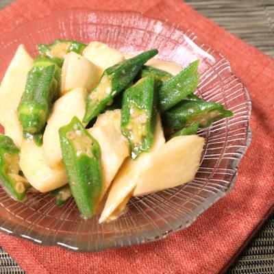 オクラと長芋のゆず胡椒和え