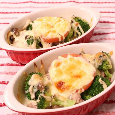 鶏と彩り野菜のマヨチーズ焼き