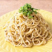 赤しそのマヨネーズスパゲティ
