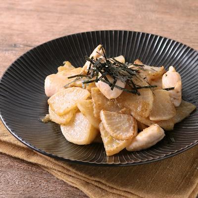 鶏ささみと大根のゆず胡椒みそ炒め