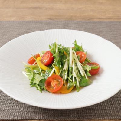 ゆず胡椒香る 水菜とトマトの彩り和え