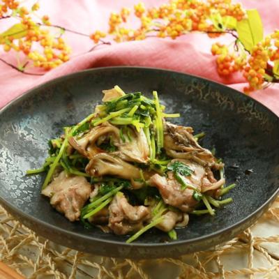 電子レンジで簡単 豚バラ肉と豆苗のレンジ蒸し