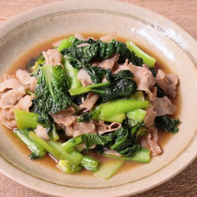 雪菜と豚バラ肉の炒め物