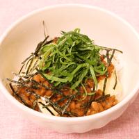 朝食におすすめ!納豆チーズご飯