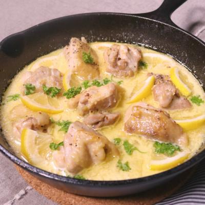 クリーミー!チキンとレモンのハニーマスタード煮込み