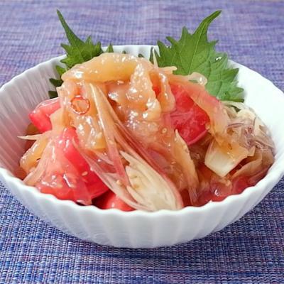 中華くらげとトマトの和え物