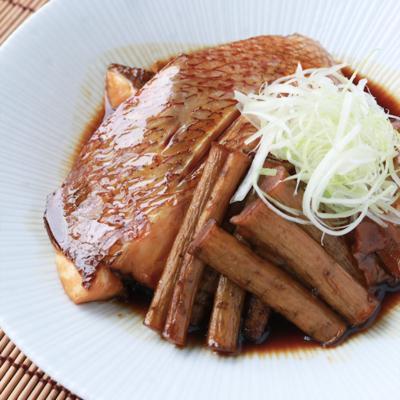 切り身で簡単 鯛とごぼうの炊き合わせ