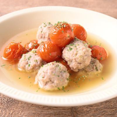 ミニトマトと肉団子のころころコンソメ煮
