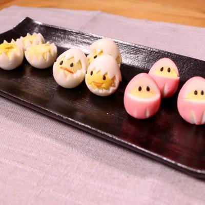 うずらの卵の飾り切り 3種