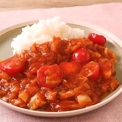 キャベツとミニトマトの野菜ハヤシライス