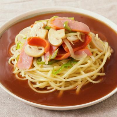 濃厚ソースのあんかけスパゲッティ