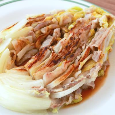 白菜と豚バラのミルフィーユ焼き