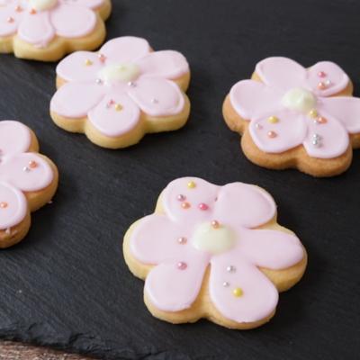 お花のアイシングクッキー