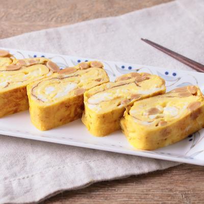 ねばねば納豆ととろーりチーズの卵焼き