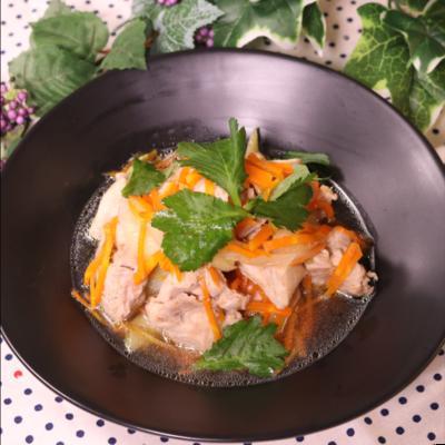 レンジで簡単夕ご飯!鶏の柚子こしょう風味煮
