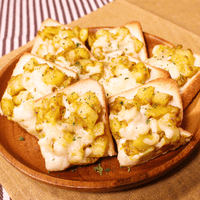 じゃがマヨカレーの熱々チーズトースト
