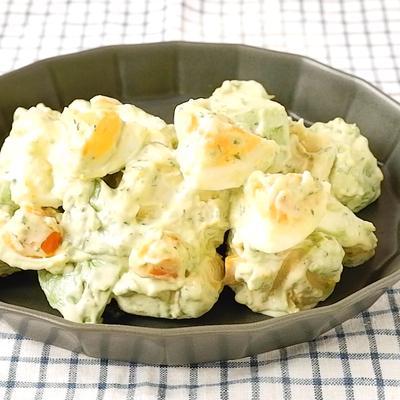 10分で作れる アボカドとゆで卵のレモンマヨ和え