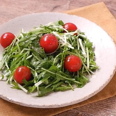 水菜とミニトマトのやみつき和え