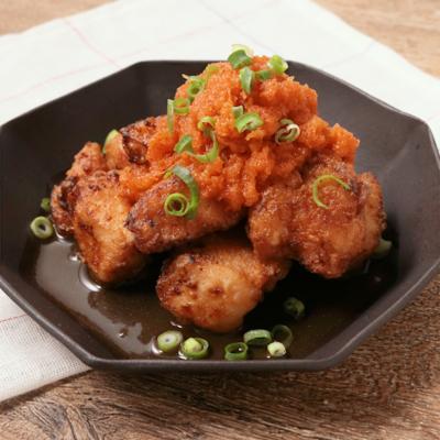 激辛おろしソースで冷やし揚げだし鶏