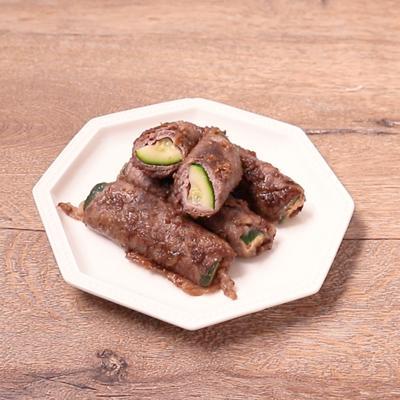 ズッキーニのバルサミコ肉巻き